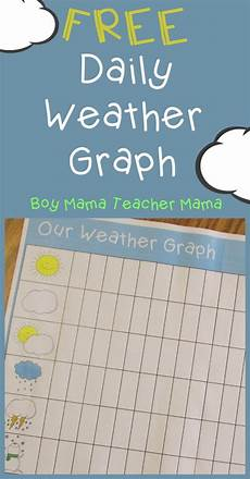 Teacher Mama Free Printable Daily Weather Graph Boy
