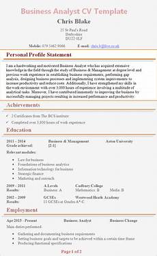 Writing A Personal Statement For A Cv Personal Profile Cv Examples
