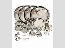 Kitchen Pro Silver Stainless Steel Dinner Sets: Buy Online