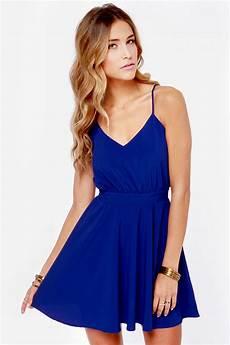 penelope dress royal blue dress backless