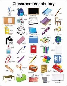 English Language Charts For Classroom Classroom Vocabulary Chart By Donald S English Classroom Tpt