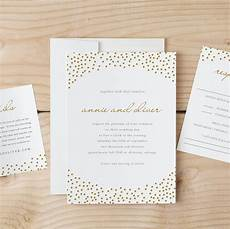 Wedding Invitation Downloads Wedding Invitation Template Download Gold Dots Word Or