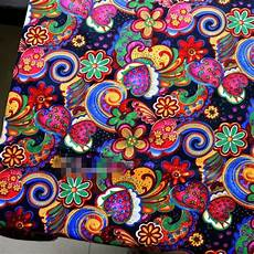 1m canvas sewing material ethnic patchwork cotton