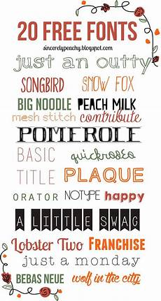 Fun Fonts Sincerely Peachy 20 Free Fonts Finally