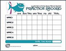 Practice Charts For Music Students Charlie The Shark Free Printable Oliver The Octopus