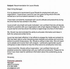 Letter Of Recommendation For Office Manager Recommendation Letter For Employee From Manager Top Form