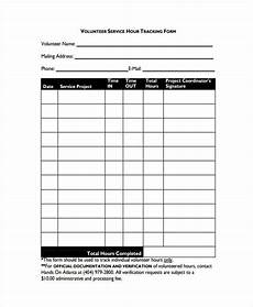 Volunteer Tracking Form Template Free 34 Tracking Forms Pdf