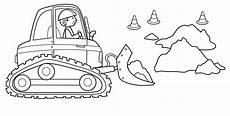 ausmalbild transportmittel bagger auf der baustelle