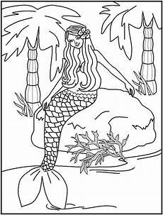 beautiful mermaid coloring pages free printable water