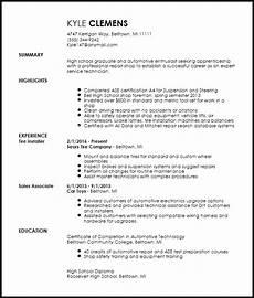 Auto Resume Maker Free Entry Level Mechanic Resume Template Resume Now
