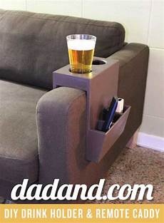 Sofa Arm Cup Holder 3d Image diy cup holder and remote caddy dadand