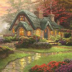 kinkade cottage painting make a wish cottage limited edition canvas