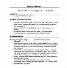 Certified Medical Assistant Qualifications 11 Medical Assistant Resume Templates Doc Excel Pdf