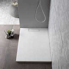 piatto doccia sottile piatto doccia 80x120 effetto pietra bianco opaco resina