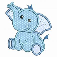 Baby Boy Designs Baby Elephant Applique Machine Embroidery Design
