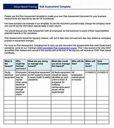 Company Assessment Template 11 Risk Assessment Templates Pdf Word Pages Sample