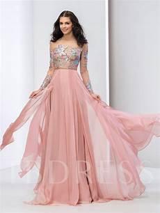 sleeve formal dress free appliques beading sleeves prom dress tbdress