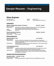 Professional Cv Format For Engineers Free 7 Sample Engineering Cv Templates In Pdf Ms Word
