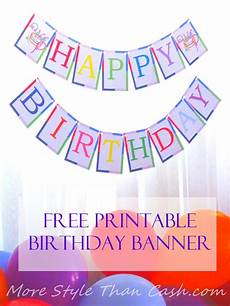 Create A Birthday Banner Free Printable Birthday Banner