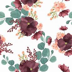Floral Background Design Pattern Seamless Floral Lush Watercolour Style Vintage