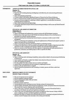 Cv For Finance Assistant Financial Aid Assistant Resume Samples Velvet Jobs