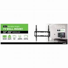 Wall Mount Tv Height Chart Crest Medium Tilt Tv Wall Mount With Variable Height