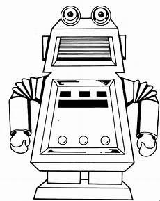 roboter 3 ausmalbild malvorlage kinder