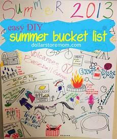 Homemade Poster Ideas Make A Summer Bucket List Poster 187 Dollar Store Crafts