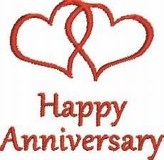 Happy Anniversary Design Twin Hearts Happy Anniversary Embroidery Designs Machine