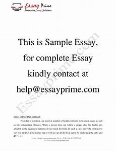 Nutrition Essays Essay About Diet And Nutrition