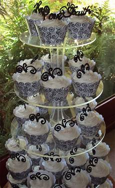delana s cakes wedding cupcakes black and white theme