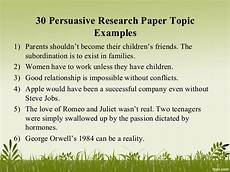 Research Paper Topics Ideas Persuasive Research Paper Topics