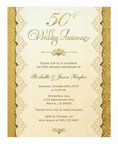 50th Anniversary Template Anniversary Card Template 10 Free Sample Example