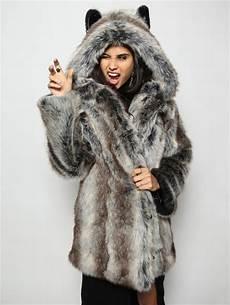 fur coats costume spirithoods faux fur coat grey wolf s a masquerade costume