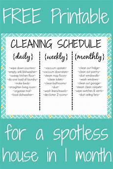 Daily Weekly Monthly Cleaning Free Cleaning Schedule Printable Daily Weekly Monthly