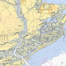 Charleston Sc Nautical Charts South Carolina Folly Island Nautical Chart Decor