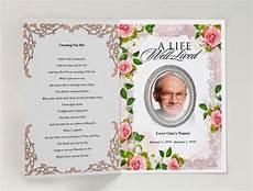 Printable Funeral Programs Decent Funeral Template Funeral Program Template