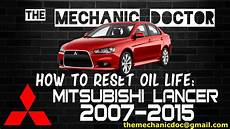 2015 Mitsubishi Lancer Oil Light Reset How To Reset Oil Light Mitsubishi Lancer 2007 2008 2009