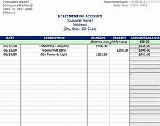 Accounts Receivable Statement Template Statement Of Account Template Statement Of Account