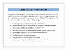 Office Duties Resume Office Manager Resume Sample Pdf