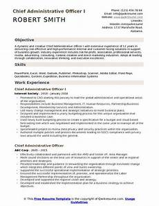 Resume Format For Admin Officer Chief Administrative Officer Resume Samples Qwikresume