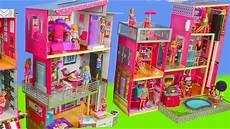 Barbie Doll House With Lights Barbie Dolls Toy Dollhouse Dreamhouse W Kitchen