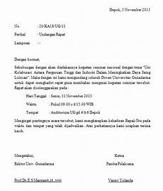 contoh format surat undangan rapat scrap of journey