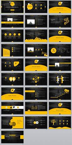 Black Powerpoint Template 28 Yellow Black Business Report Powerpoint Templates