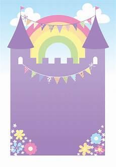 7th Birthday Invitation Card Printable Purple Castle Free Printable Birthday Invitation