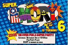 Printable Superhero Invitations Superhero Birthday Invitation Templates
