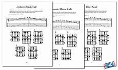 Guitar Scales Chart Book Printable Pdf Download Guitar