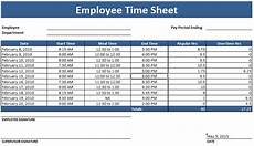 Employee Time Sheets Template Employee Timesheet Template Weekly And Monthly