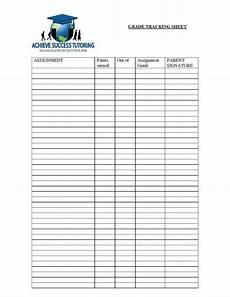 Grade Tracking Sheet Grade Tracking Sheet Achieve Success Tutoring