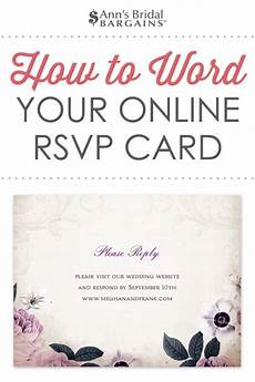 Online Wedding Rsvps Response Card Wording Examples For Online Rsvps Wedding